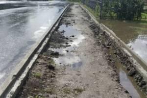 Брянцы получили грязь и слякоть вместо нового тротуара