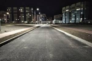 В Брянске положили асфальт и сделали тротуары на улице Грибачева