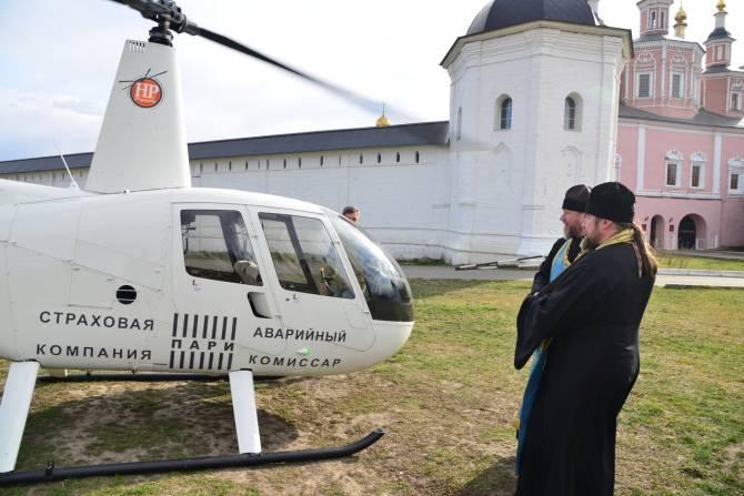Священник с иконой облетел на вертолёте Брянск