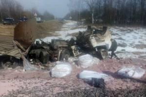 Водителя грузовика обвинили в столкновении с поездом под Брянском