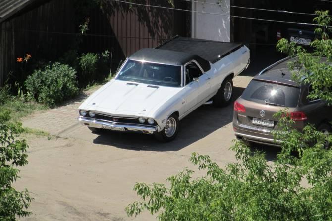 В Брянск прибыл раритетный пикап 70-х годов Chevrolet El Camino