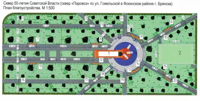 Брянцам показали дизайн-проект сквера «Паровоз»