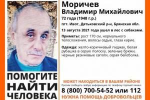 Пропавшего брянского пенсионера Владимира Моричева нашли живым