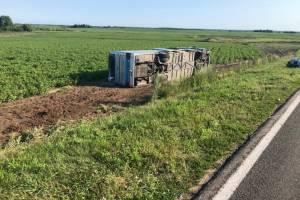 В перевернувшемся под Стародубом автобусе ранены две пассажирки