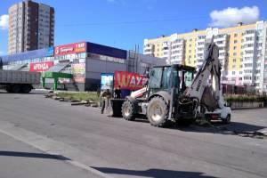 В Брянске у ТЦ «Куб» начались строительные работы