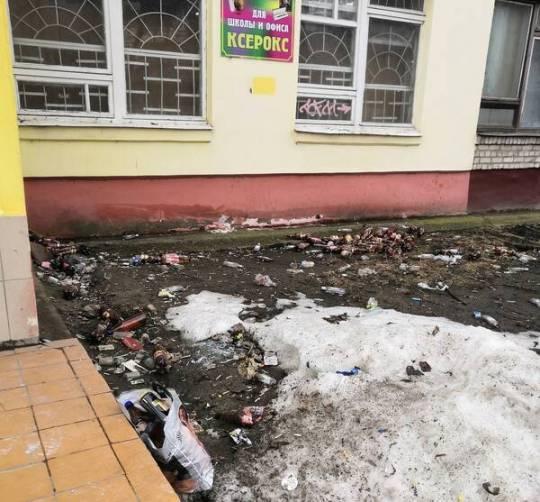 В Брянске конечная автобуса №31 превратилась в свалку