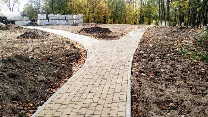 В поселке Локоть закончить реконструкцию парка обещают в декабре