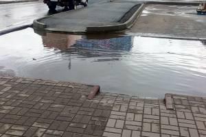 В Брянске у «Лития» пешеходов толкают под колеса или в огромные лужи