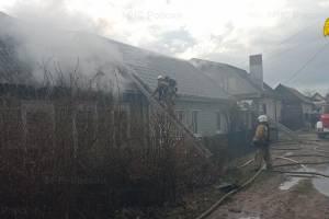 В Брянске пожар на переулке Ново-Советском обошелся без жертв