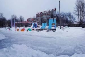 В Брянском парке «Юность» начал работу ледовый каток