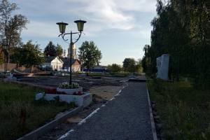 В Новозыбкове выявили серьезные нарушения в сквере на Набережной