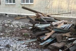В Брянске территорию рядом с детсадом «Дельфин» превратили в помойку