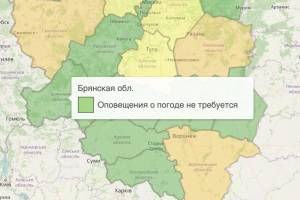 В Брянской области отменили жёлтый уровень опасности