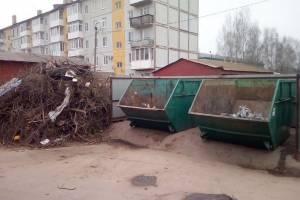 В Погаре мусорные площадки завалили спиленными ветками