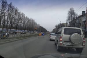 В Брянске проспект Станке Димитрова встал в гигантской пробке