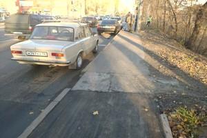 В Брянске улица Калинина встала в жуткой пробке