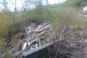 Бывший трамплин превратился в свалку в брянской роще Соловьи