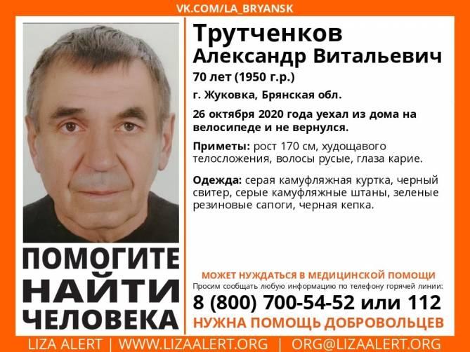 В Брянской области без вести пропал 70-летний Александр Трутченков