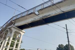 «Мог упасть на голову»: мост на вокзале «Брянск-I» оказался аварийным