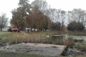 В Клинцах вышедший из берегов парковый пруд грозил подтоплением частных домов