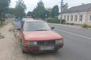 По Новозыбкову раскатывала пьяная автоледи на Audi