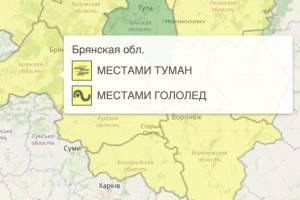 На Брянщине из-за гололёда продлили желтый уровень опасности