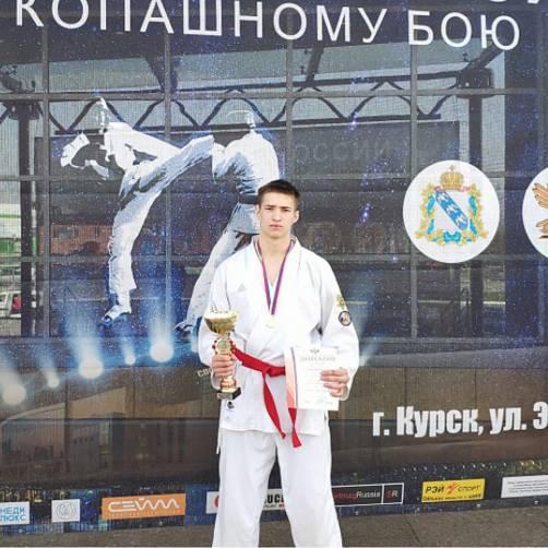 Брянец Александр Горохов взял золото первенства России по рукопашному бою