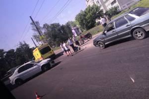 В Брянске на Володарке легковушка сбила мотоциклиста