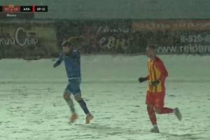 Брянское «Динамо» проиграло 0:2 «Алании» на заснеженном поле