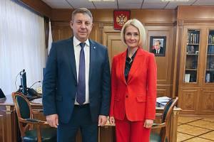 Брянский губернатор встретился с вице-премьером Викторией Абрамченко