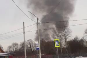 В брянском поселке Большое Полпино произошел пожар