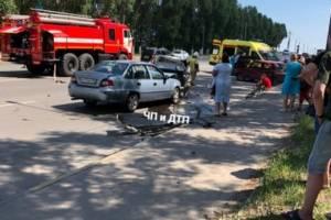 В Брянске на Новостройке произошла жуткая массовая авария