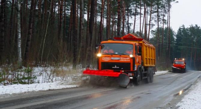 На брянские дороги за сутки высыпали 5274 тонны песка и соли