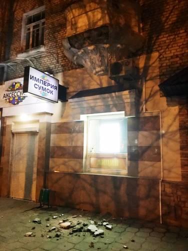 В Брянске на улице Куйбышева обрушился балкон