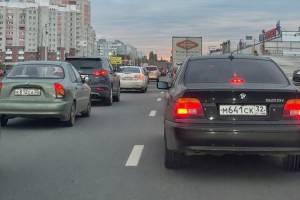 В Брянске встала в пробке улица Бурова