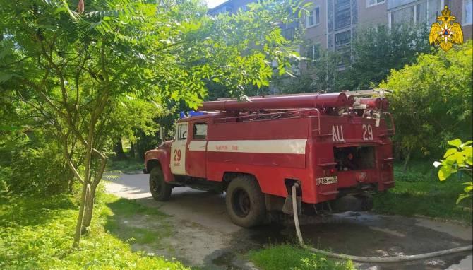 В посёлке Белые Берега спасатели вытащили из огня двух человек