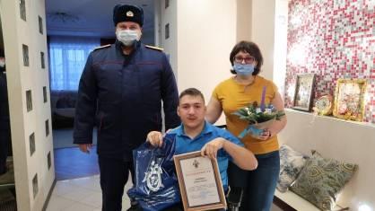 Брянские следователи поздравили с Новым годом победителя Кубка России по бочча