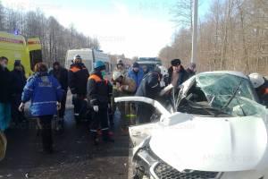 В страшной аварии под Брянском пострадали два человека