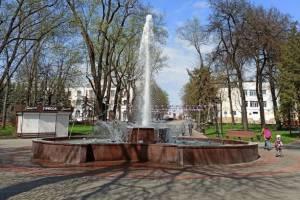 В Брянске 1 мая заработал фонтан в Круглом сквере