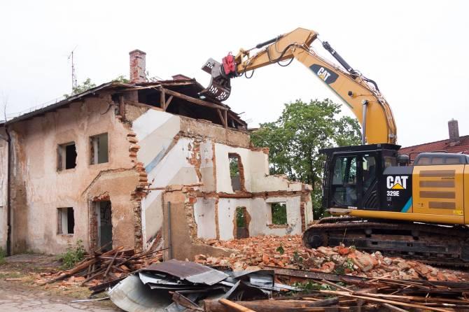 В Брянске вековое здание снесли по причине аварийного состояния