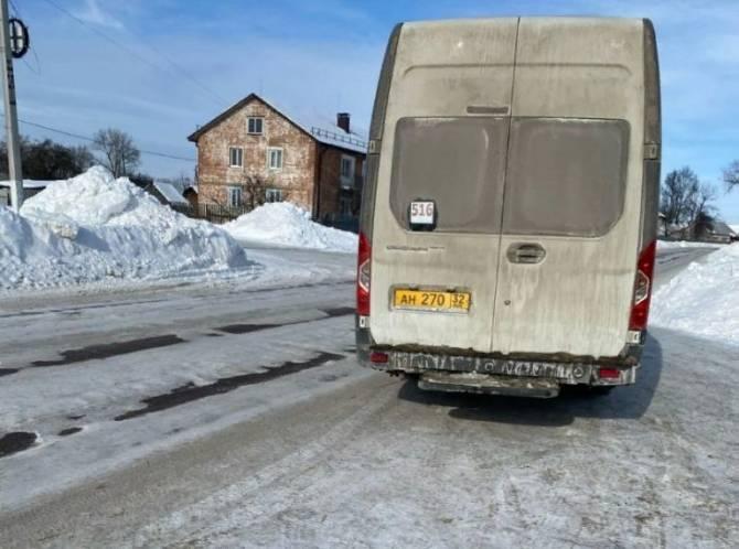 Маршрутчик два часа морозил пассажиров по дороге из Брянска в Локоть