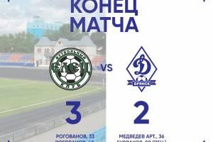 Молодежка брянского «Динамо» в драматичном матче проиграла в Ельце