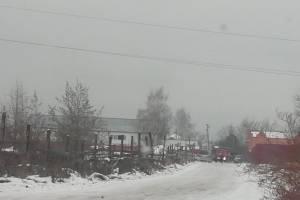 В брянском селе Супонево сгорел автосервис