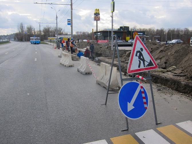 В Брянске возле Первомайского моста ремонтируют ливневку