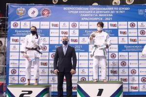 Брянская девушка завоевала серебро на Всероссийском турнире по дзюдо