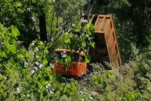 В Брянске водителя КАМАЗа застигли за выгрузкой мусора на песчаном карьере