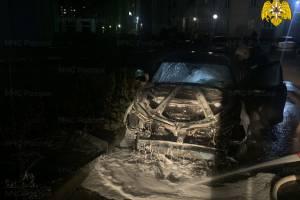 В брянском поселке Путевка сгорела иномарка Volkswagen