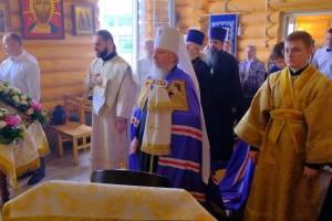 Брянский митрополит Александр освятил новый храм в Навлинском районе