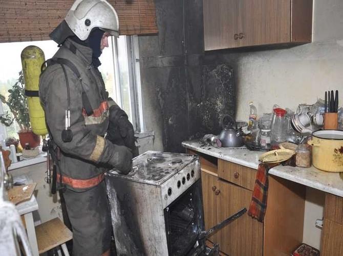 В Брянске при пожаре на кухне квартиры никто не пострадал