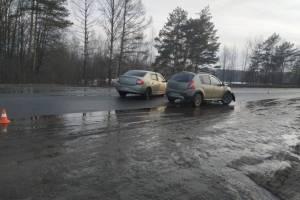 Под Выгоничами дама за рулем Sandero отправила в больницу водителя Logan